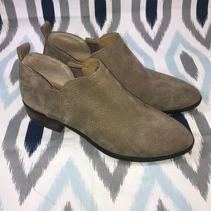 Lucky Brand Beige Ankle Booties